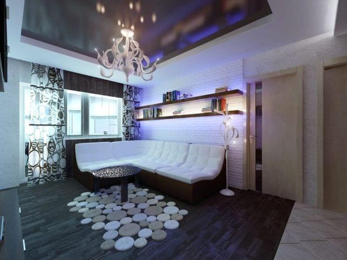 стильный стиль гостиной в стиле хай тек