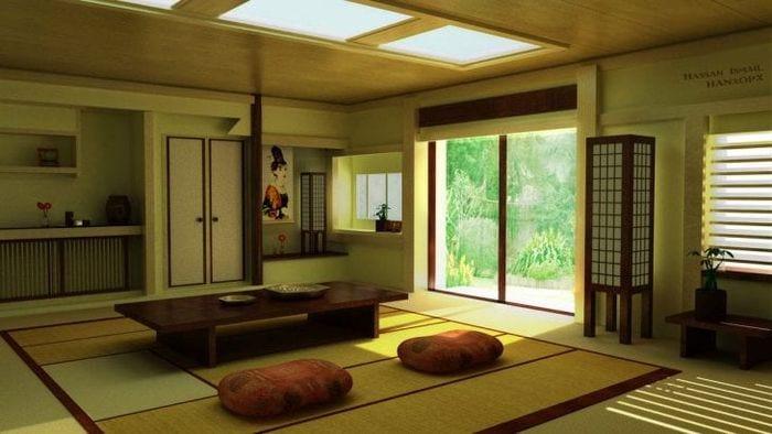 светлый декор квартиры в японском стиле