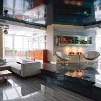 яркий дизайн гостиной в стиле хай тек картинка