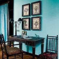 яркий стиль спальни в бирюзовом цвете фото