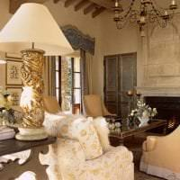 красивый дизайн гостиной в французском стиле картинка