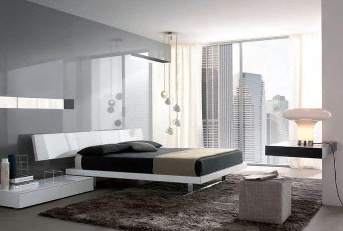 красивый дизайн квартиры в стиле хай тек