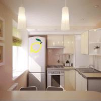 светлый интерьер бежевой кухни в стиле прованс фото