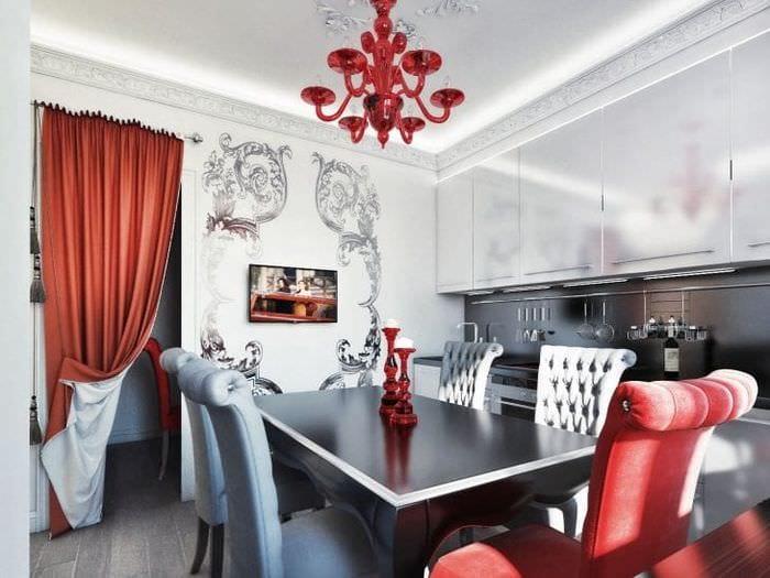 яркий стиль квартиры в стиле деко арт