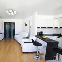 красивый дизайн гостиной в белых тонах картинка