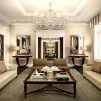 светлый интерьер комнаты в стиле арт деко картинка