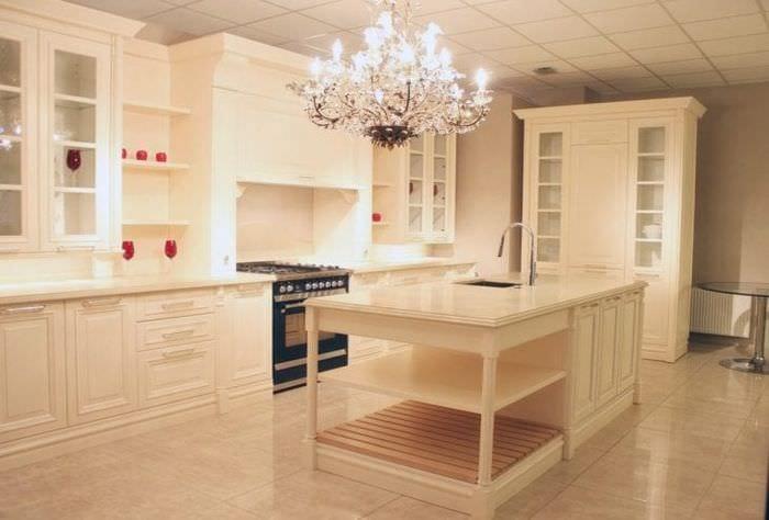 красивый дизайн гостиной в цвете кофе с молоком