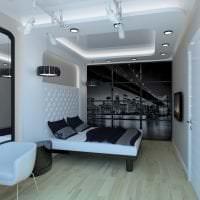 красивый интерьер спальни в стиле хай тек картинка