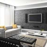 шикарный интерьер спальни в стиле хай тек фото