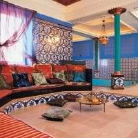 яркий стиль спальни в этническом стиле картинка