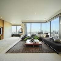 красивый декор гостиной в японском стиле картинка
