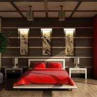 светлый дизайн спальни в японском стиле картинка