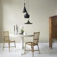 красивый интерьер белой кухни с оттенком серого картинка