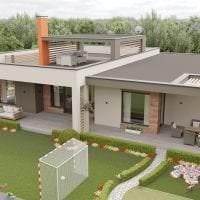 красивый дизайн дома в архитектурном стиле картинка