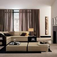 красивый декор гостиной в стиле хай тек картинка
