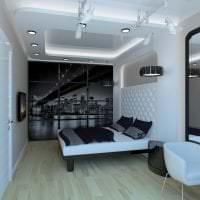 шикарный декор комнаты в стиле хай тек фото