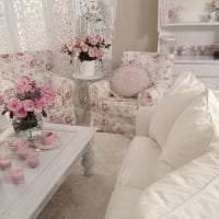 красивый интерьер спальни в стиле шебби шик фото