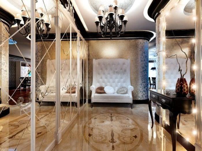 яркий интерьер квартиры в стиле арт деко