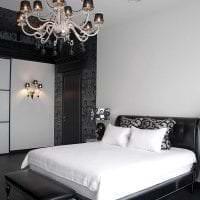 красивый декор гостиной в черно белом цвете картинка