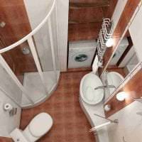 яркий интерьер ванной комнаты с душем в темных тонах картинка