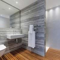 светлый дизайн ванной комнаты с душем в светлых тонах фото