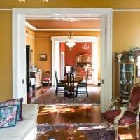 приятный терракотовый цвет в стиле коридора картинка