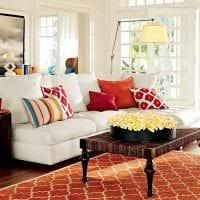 яркий терракотовый цвет в дизайне спальни картинка