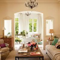 светлый весенний декор в дизайне спальни фото