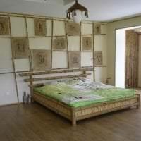 обои с бамбуком в стиле спальни фото