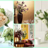 живые цветы в стиле кухни фото