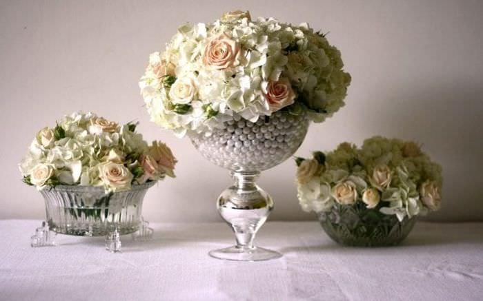 искусственные цветы в стиле балкона