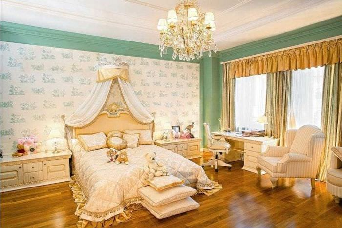 красивая комната в стиле ампир