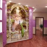 фрески в декоре квартиры с рисунком природы фото