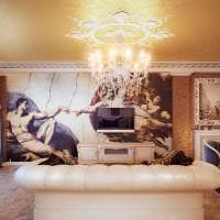 фрески в стиле кухни с изображением пейзажа картинка