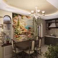 фрески в интерьере комнаты с рисунком природы картинка