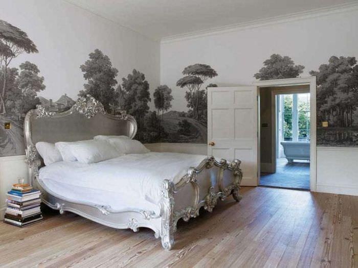 фрески в декоре квартиры с рисунком природы