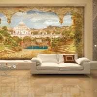 фрески в стиле комнаты с изображением пейзажа фото
