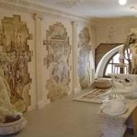 фрески в дизайне прихожей с рисунком природы фото