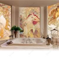 фрески в стиле гостиной с изображением природы фото