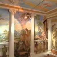 фрески в стиле квартиры с изображением пейзажа фото