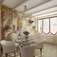 фрески в интерьере гостиной с рисунком пейзажа картинка