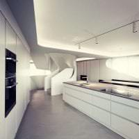 футуризм в стиле кухни в необычном цвете фото