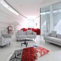футуризм в дизайне комнаты в светлом цвете фото