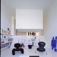 футуризм в дизайне гостиной в необычном цвете картинка