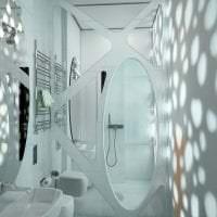 футуризм в интерьере комнаты в светлом цвете фото