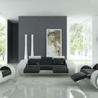 футуризм в интерьере гостиной в светлом цвете фото