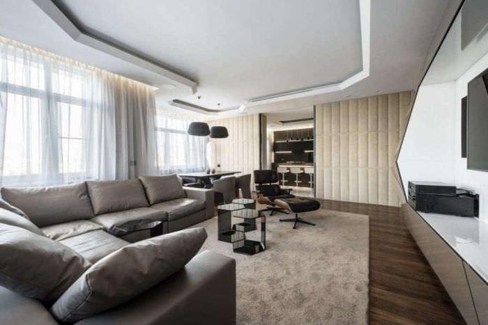 футуризм в стиле гостиной в ярком цвете