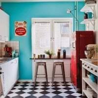 футуризм в дизайне кухни в необычном цвете фото
