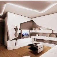 футуризм в декоре спальни в необычном цвете картинка