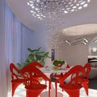 футуризм в интерьере спальни в ярком цвете картинка